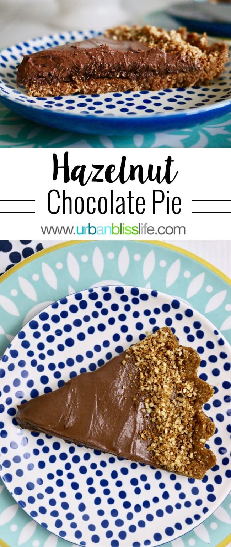 Decadent Delicious Chocolate Hazelnut Tart recipe on UrbanBlissLife.com