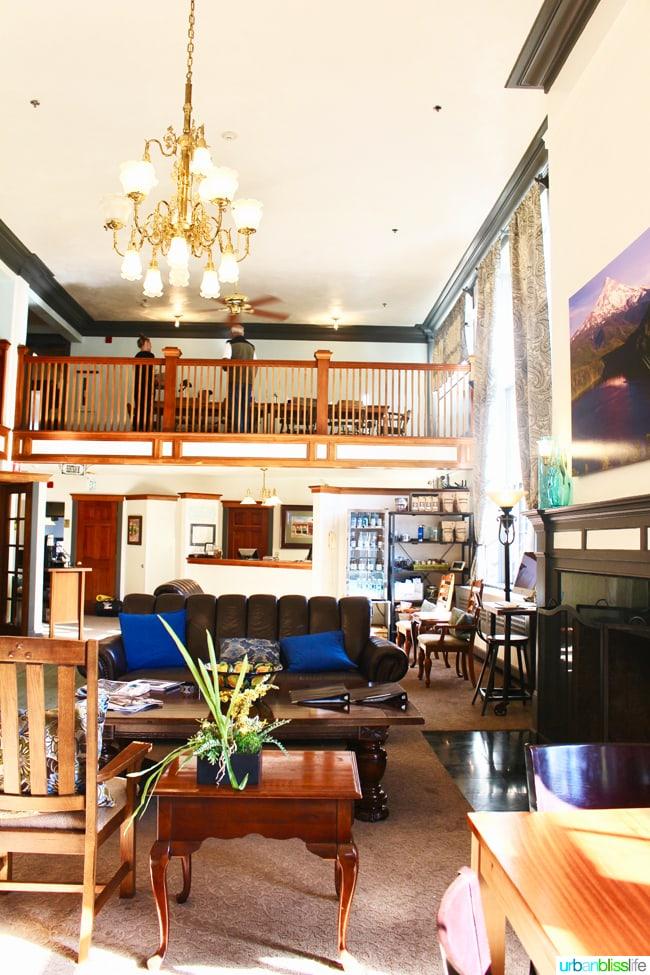 Hood River Hotel lobby, Hood River Oregon travel tips on UrbanBlissLife.com