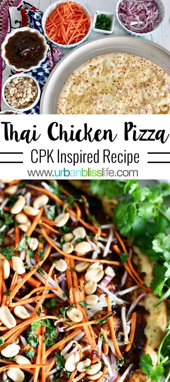 Food Bliss: Thai Chicken Pizza Recipe (Dairy Free)