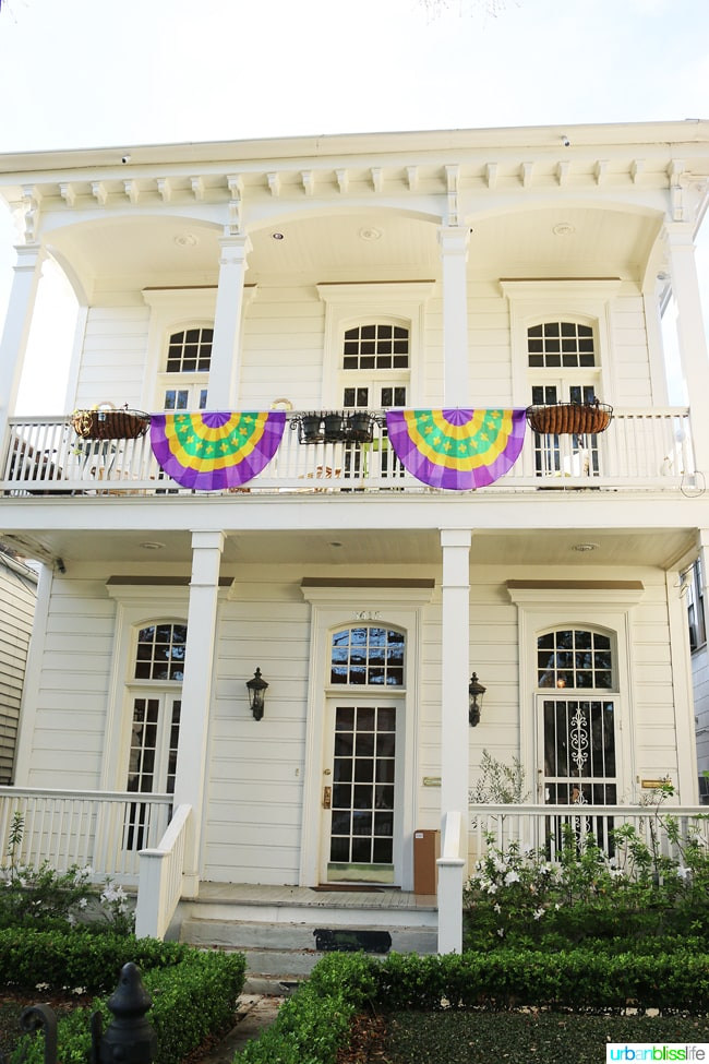 house in New Orleans garden district with banner
