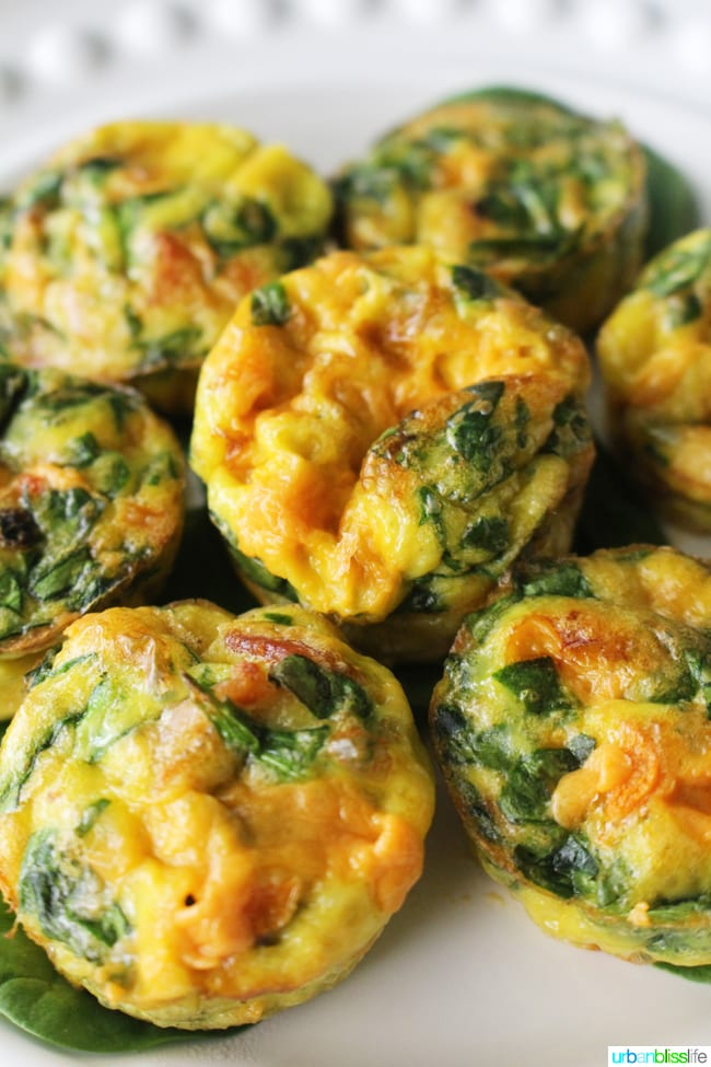 Cheesy Spinach Mini Frittatas Recipe