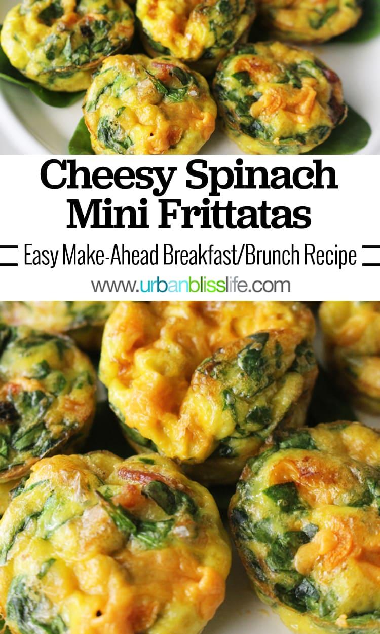 Cheesy Spinach Mini Frittatas Make-Ahead Brunch Recipe