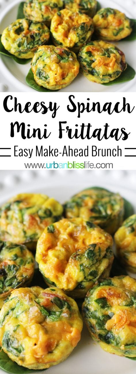 Food Bliss: Cheesy Spinach Mini Frittatas Recipe