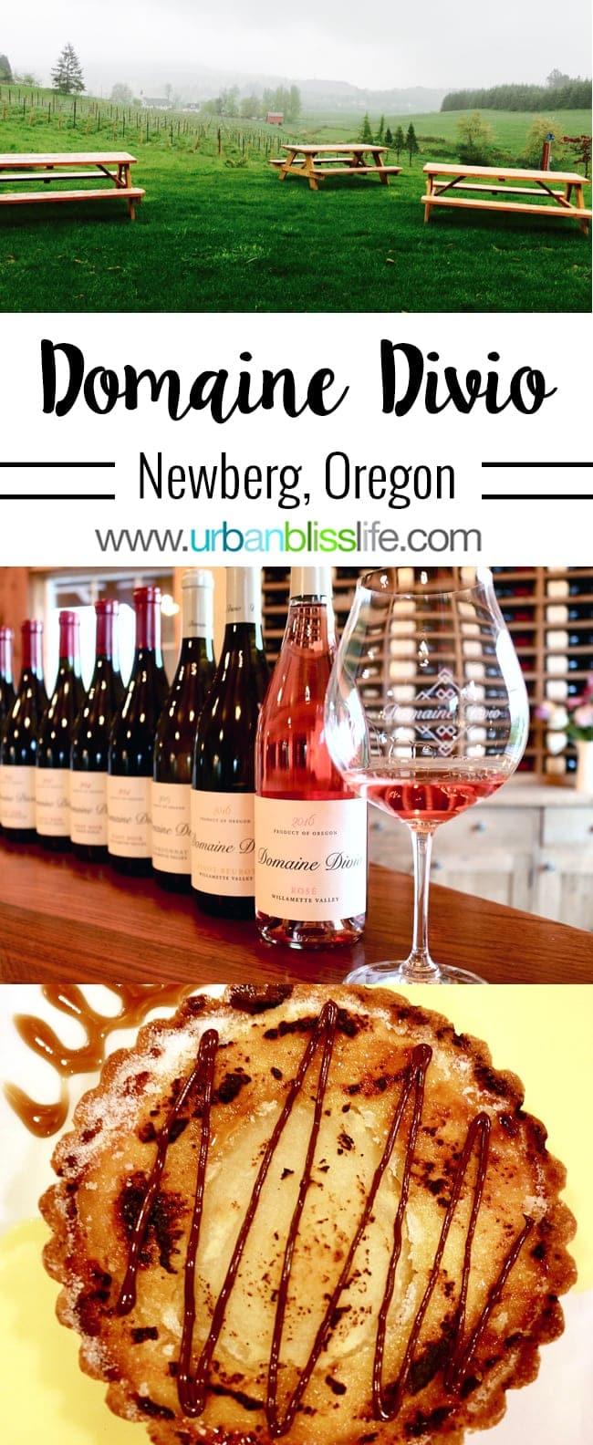 Domaine Divio Oregon winery in Oregon's Willamete Valley wine country on UrbanBlissLife.com