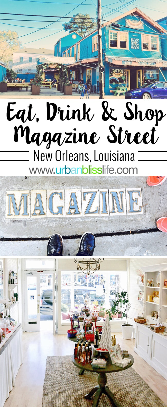 Magazine Street shopping, eating, drinking adventures in New Orleans, Louisiana, on UrbanBlissLife.com