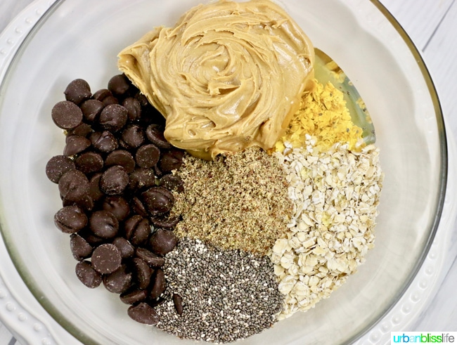 Chocolate Peanut Butter Energy Bites recipe on UrbanBlissLife.com