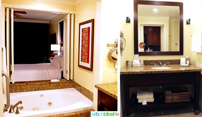 Bathroom in guest room at Kauai Westin Princeville Ocean Resort Villas