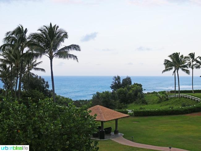 Lush green grounds at Kauai Westin Princeville Ocean Resort Villas