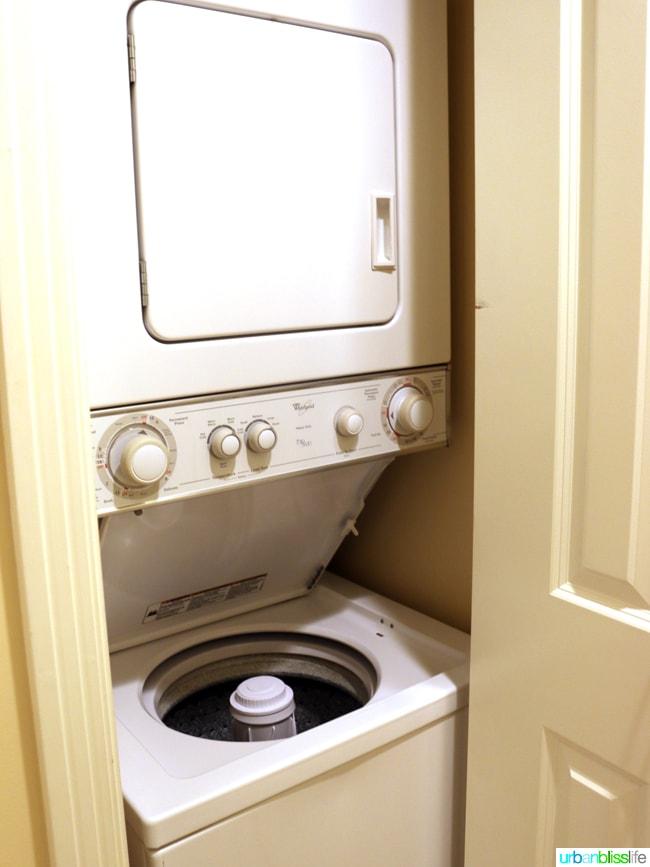In-room laundry at Kauai Westin Princeville Ocean Resort Villas