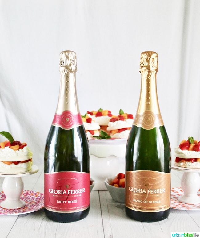 Mini Pavlova Cakes with Strawberries, Peaches, and Cream recipe on UrbanBlissLife.com