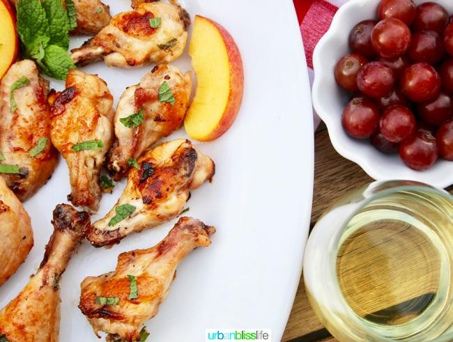 Peach Bourbon Grilled Chicken Summer BBQ Recipe