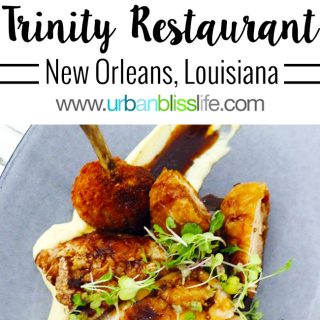 Trinity Restaurant New Orleans restaurant review on UrbanBlissLife.com