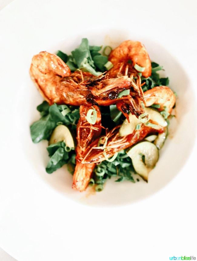 Where to Eat in Kauai: Sauteed shrimp at Merriman's Poipu