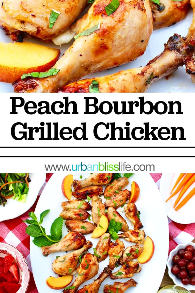 peach bourbon grilled chicken
