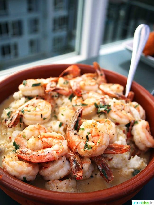 Shrimp and grits at Altabira Portland