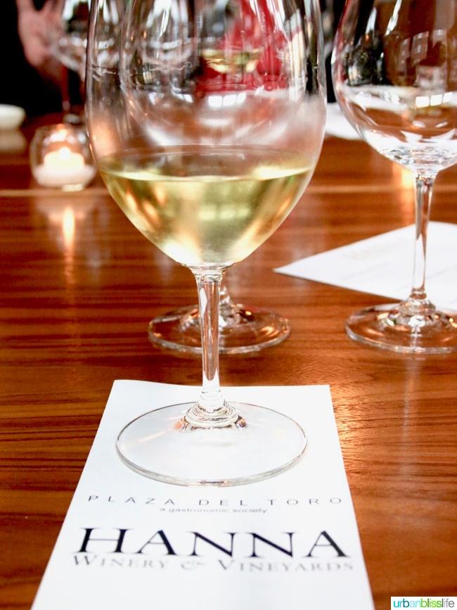 Hanna Winery California Wine Pairing Dinner on UrbanBlissLife.com