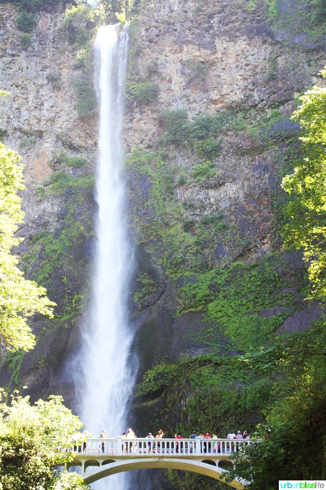 50 Things to Do in Portland, Oregon With Kids During the Summer - Multnomah Falls, travel tips on UrbanBlissLife.com.