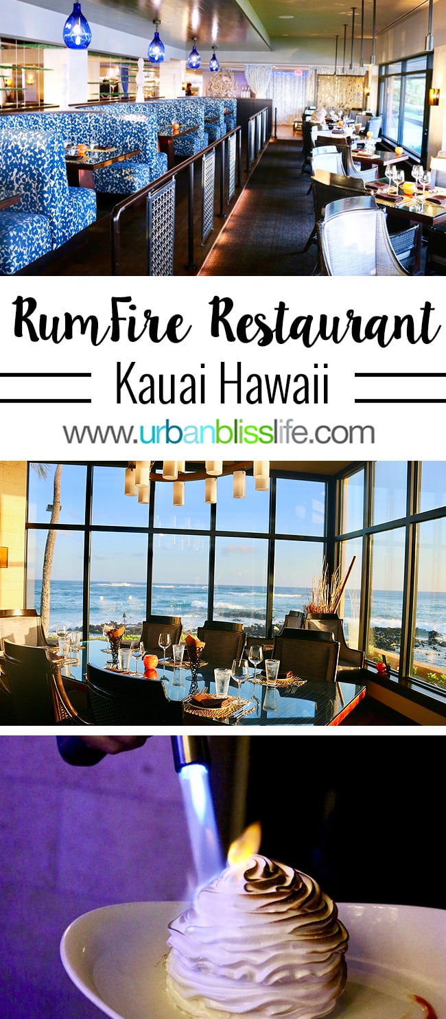 Best Places to Eat in Kauai Hawaii: RumFire Restaurant review on UrbanBlissLife.com
