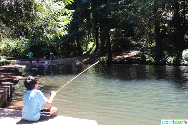 50 Things to Do in Portland, Oregon With Kids During the Summer - trout farm, travel tips on UrbanBlissLife.com.