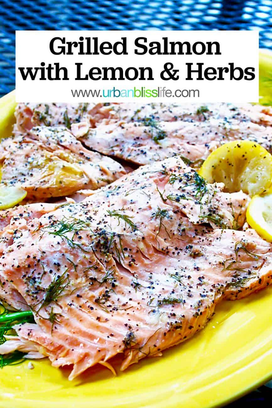 main graphic for grilled salmon with lemon and herbs