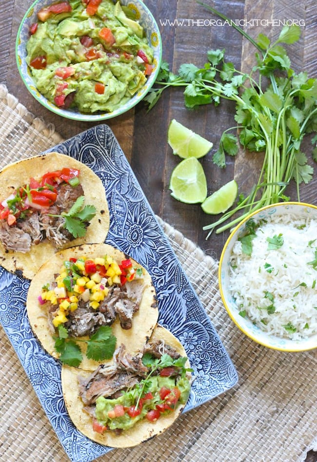 15 Family Friendly Instant Pot Recipes: Pulled Pork Tacos with Cilantro Lime Rice