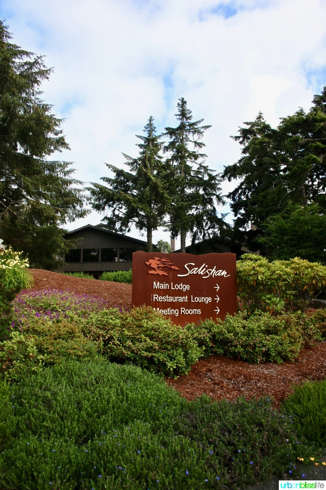 Salishan Spa and Golf Resort sign