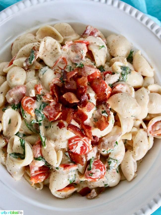 Yummy, rich, creamy BLT Pasta Salad