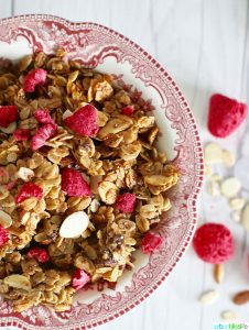 Brown Butter Almond Granola is easy to make and delicious! Recipe on UrbanBlissLife.com