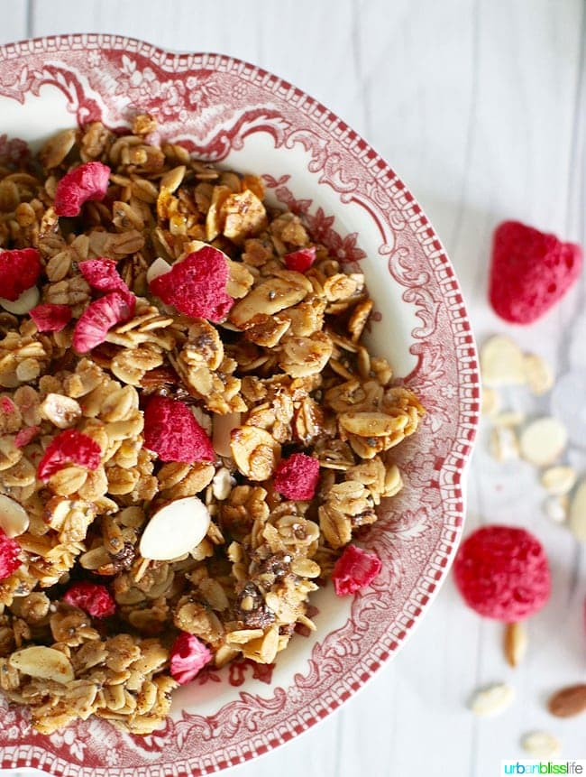 Homemade granola with Brown Butter and Almonds