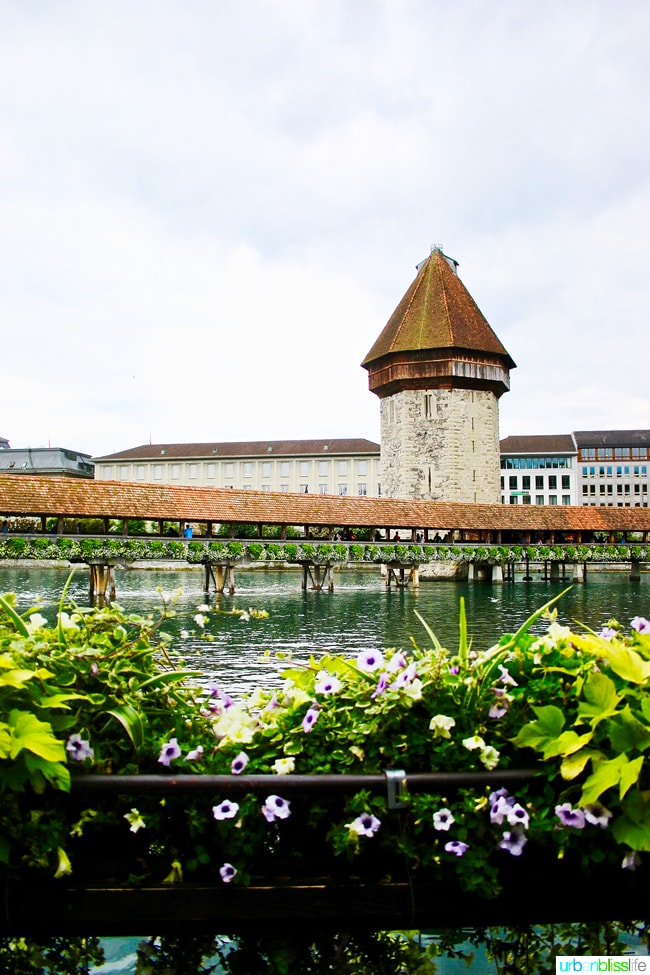 kapellbrucke in lucerne, switzerland