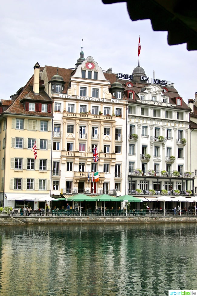 riverfront in lucerne, switzerland