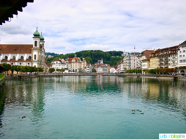 Lucerne, Switzerland with church in background