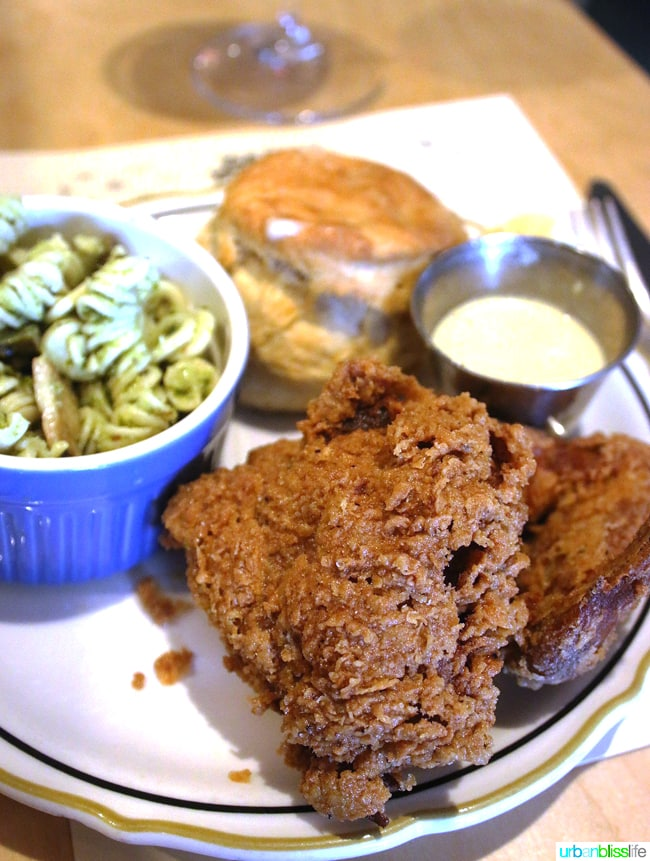 Places to eat in Eugene: Fried chicken at Party Downtown restaurant