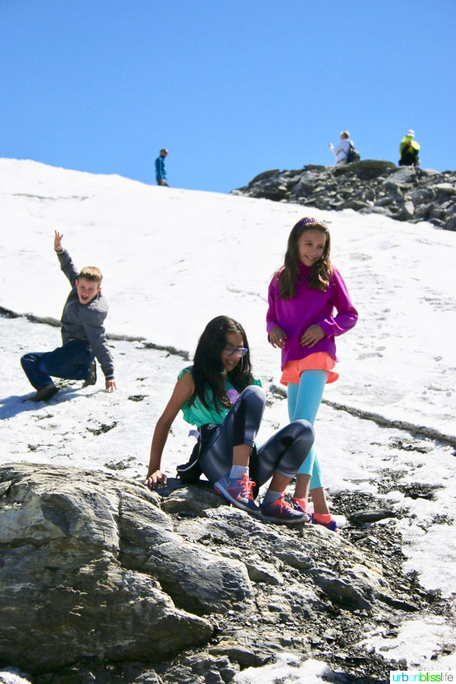 Family Travel to the Swiss Alps at Mount Titlis Switzerland