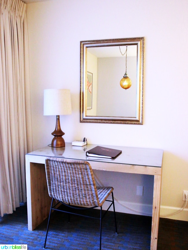 Ashland Hills Hotel and Suites suite desk, hotel review and travel tips on UrbanBlissLife.com