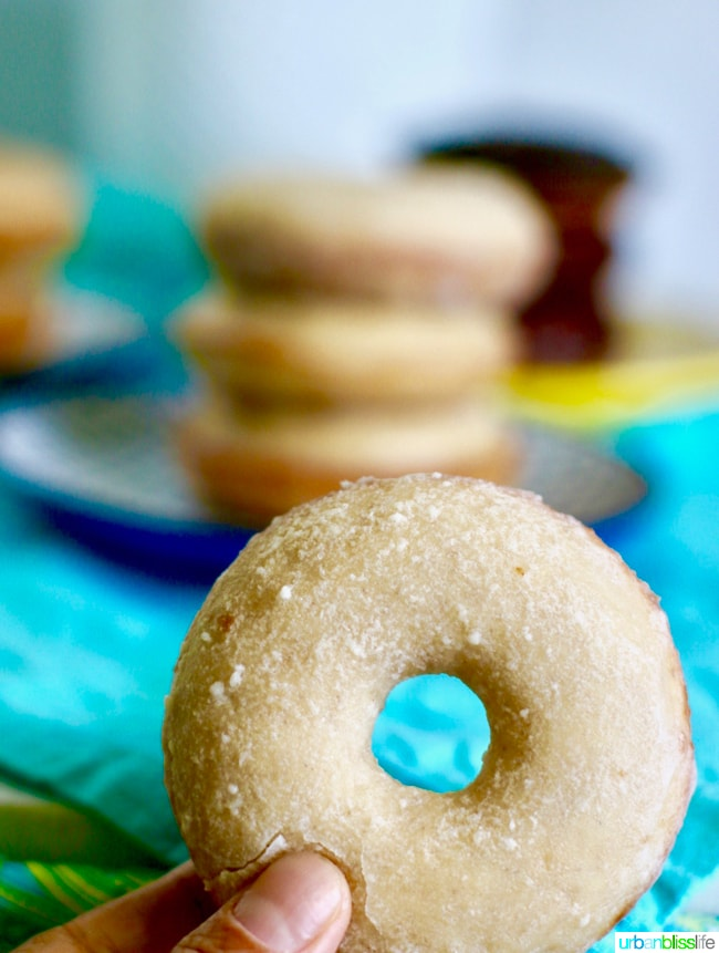 Baked Cinnamon Sugar Donuts with Icing Glaze. Recipe on UrbanBlissLife.com
