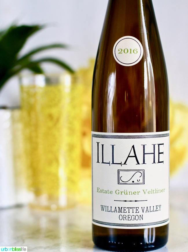 bottle of gruner veltliner wine from illahe
