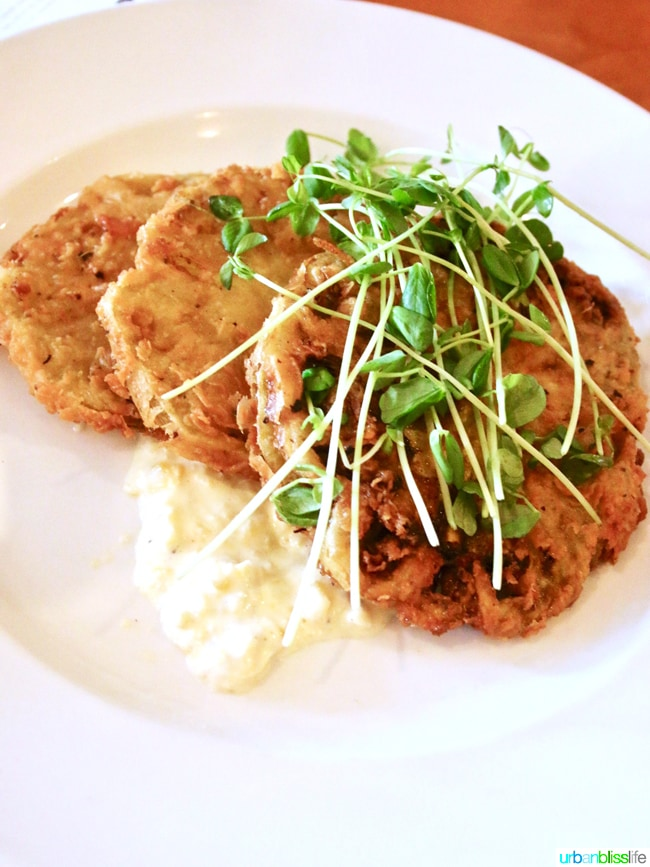 Larks Restaurant fried green tomatoes