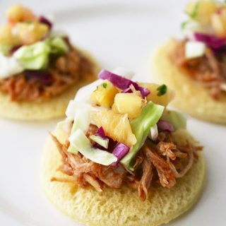 Pulled Pork Sliders with Pineapple Slaw recipe on UrbanBlissLife.com
