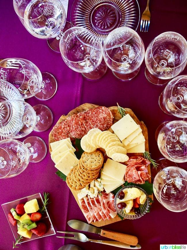 Applegate Valley wine tasting: Troon Vineyards cheese meat platter, on UrbanBlissLife.com
