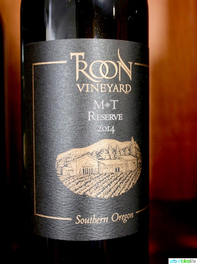 Applegate Valley wine tasting: Troon Vineyards M & T Reserve wine, on UrbanBlissLife.com