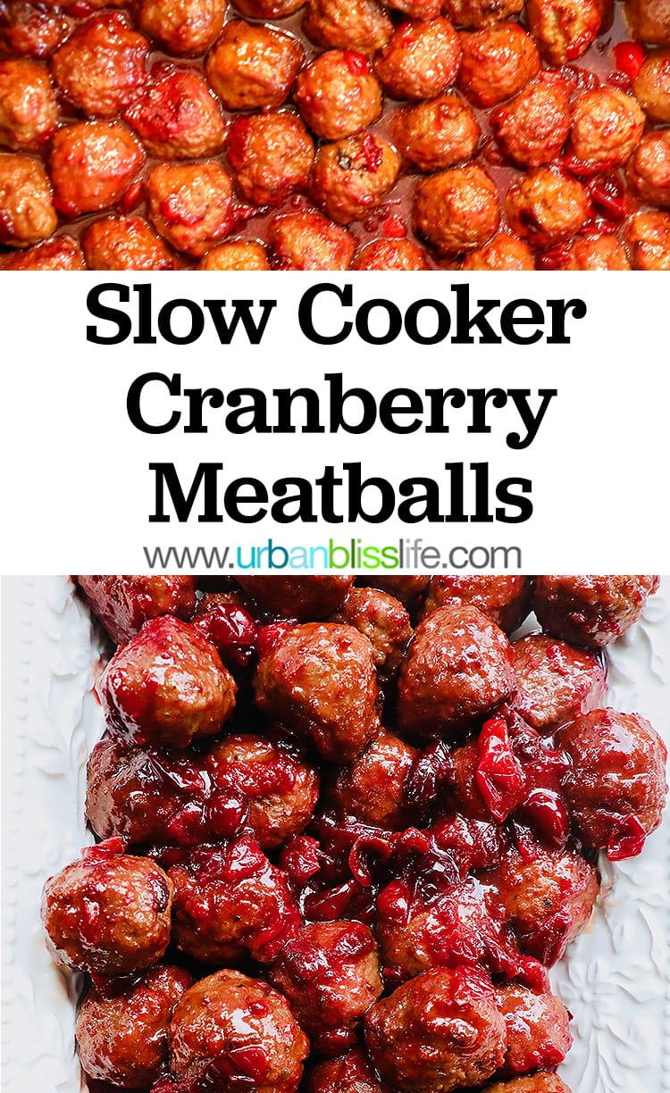 Slow Cooker Cranberry Meatballs party appetizer