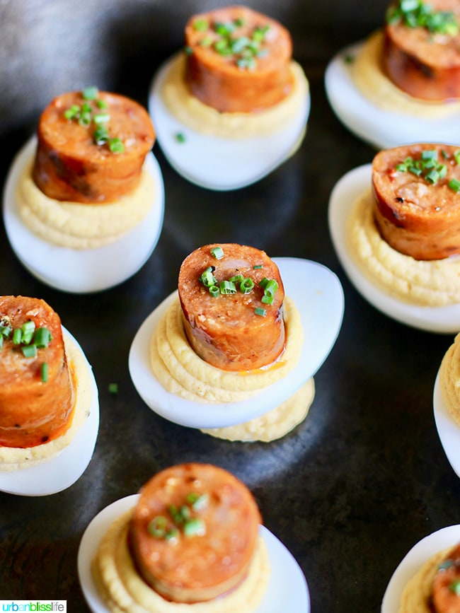BJ Smith Deviled Eggs - Finex Brunch Cast Iron Creations on UrbanBlissLife.com