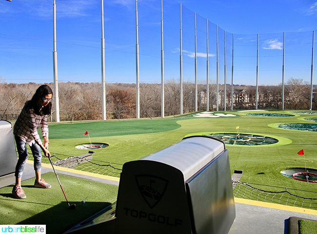 Holidays in the Heartland: TopGolf in Kansas, on UrbanBlissLife.com