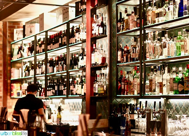 Bar at Bar Casa Vale restaurant in Portland, Oregon