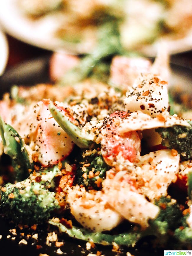 broccoli salad at at Bar Casa Vale restaurant in Portland, Oregon.