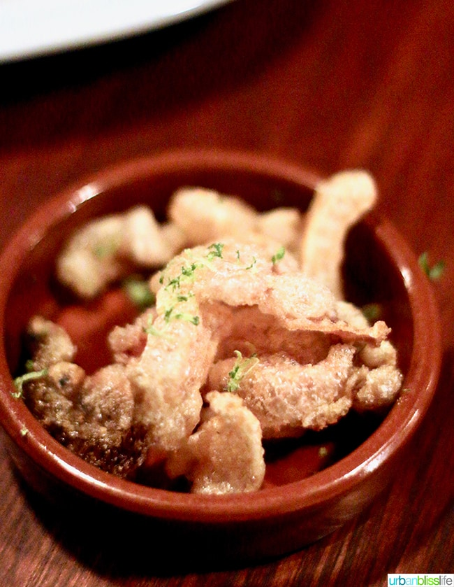 chicarrones at at Bar Casa Vale restaurant in Portland, Oregon