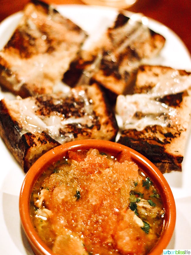 tapas in portland - bread with clams conserva