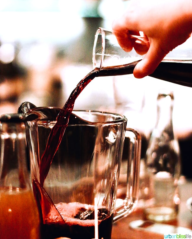 sangria at at Bar Casa Vale restaurant in Portland, Oregon