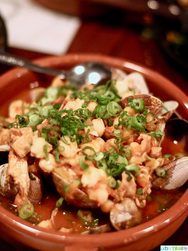 clams at Bar Casa Vale restaurant